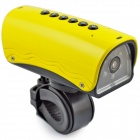 YDDVF Bike Mount 300KP Wide Angle Sports DVR Camcorder w/ TF / FM / Speaker / Flashlight - Yellow