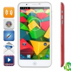 "Phone PAD5 Android 4.2 WCDMA Bar Phone w/ 5.7"" Capacitive Screen, Wi-Fi and GPS - White + Red"