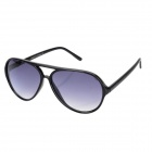 SENLAN 1168 Fashion Retro Polycarbonate Lens Acetate Frame UV Protection Sunglasses - Black