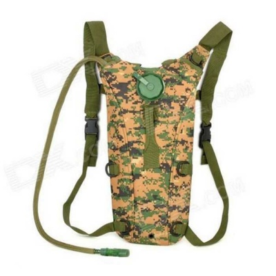 CORDURA Outdoor Tactical Multifunction Oxford Cloth Water Bag Storage Backpack - Army Green (2.5L)