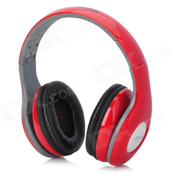 Genuine Ditmo DM-4900 Folding Headphones w/ Microphone for Iphone 4 / 4S / 5 - Red + Black + Grey ditmo dm 6670 3 5mm plug in ear earphone w microphone for cellphone black red white