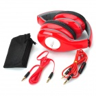 Genuine Ditmo DM-4900 Folding Headphones w/ Microphone for Iphone 4 / 4S / 5 - Red + Black + Grey