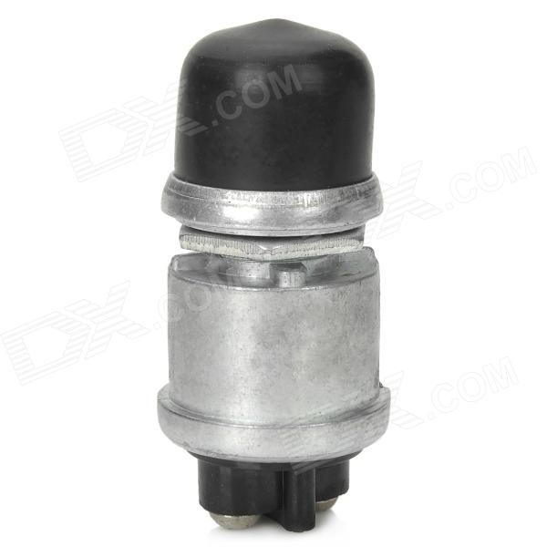 04010047 Water Resistant DIY Car On / Off Button Switch - Black + Silver (12V)