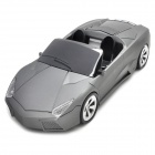 HX66S Sports Car Shaped Media Player Speaker w/ FM / TF / USB / LED - Deep Grey + Black
