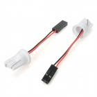 T10 Car LED Bulb Connector - White + Black + Red (10PCS)