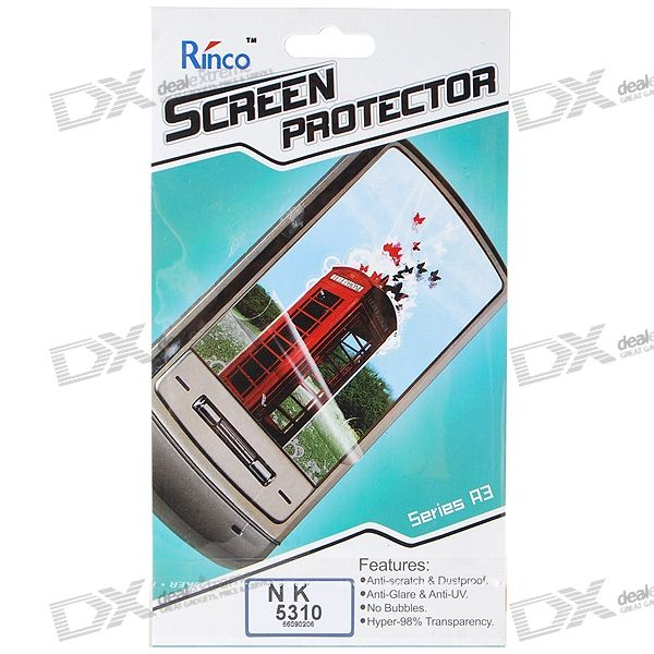 Rinco LCD Screen Protector for Nokia 5310 Cell Phones