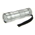 DX 12-LED IR InfraRed Flashlight Silver (3*AAA)