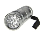 DX 12-LED UV Purple Flashlight Silver (3*AAA)