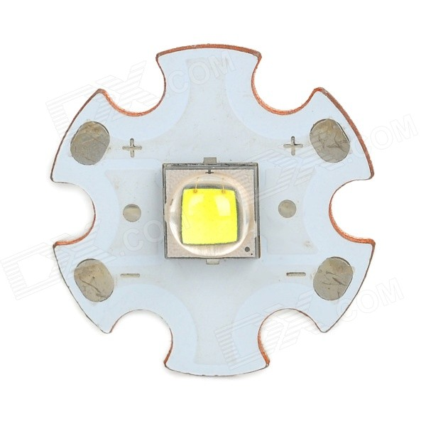 Replacement 18mm 900lm Cold White Emitter Plate for Flashlight - White + Golden