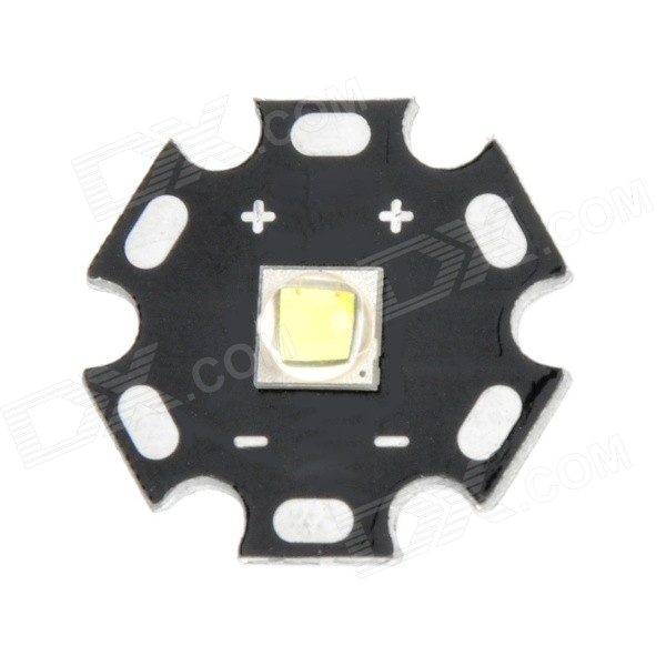 Replacement 20mm 900lm Cold White Emitter Plate for Flashlight - Black + Silver