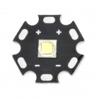 Replacement 20mm CREE XM-L2 T6 900lm Cool White Emitter Plate for Flashlight - Black + Silver