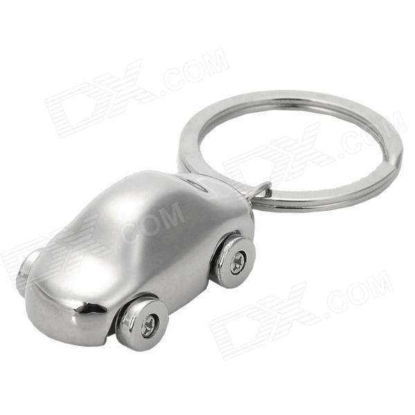 Exquisite Car Shape Nickel Keychain - Silver