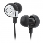 Biaolang ADG98037 Stylish In-Ear Stereo Earphones - Black + Silver (3.5mm Plug / 123cm)