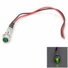 06070012 0.3W 6lm Green Light Car Signal Indicator Lamp - Silver + Black + Red