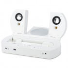 Portable USB Powered 2.1-Channel Audio Speaker for PSP1000 - White