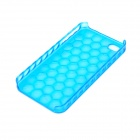 Cool Honeycomb Style Protective Plastic Hard Back Case for Iphone 4 / 4S - Blue