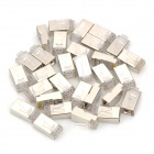 RJ45 Network Crimp Plugs - Transparent + Silver (30PCS)
