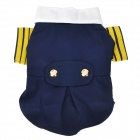 Navy Style Cotton Clothes for Dog Apparel Pet Clothes - Deep Blue + Yellow + White + Red (Size M)