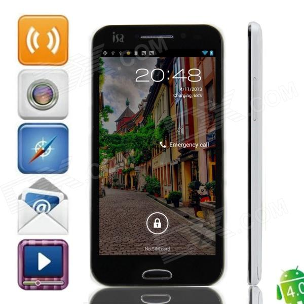 "ISA A19 Dual-Core Android 4.0 WCDMA Smart Phone w/ 4.7"" Capacitive Screen and Wi-Fi - White + Black"