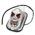 GZD15 60lm 1W Cool Skull Head Style Yellow Light Motorcycle Tail Brake Light - Silver