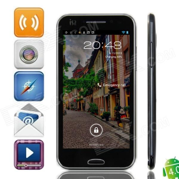 "ISA A19 Dual-Core Android 4.0 WCDMA Smart Phone w/ 4.7"" Capacitive Screen, Wi-Fi and GPS - Black"