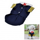 Cute Dog Cat Pet Navy Suit Style Apparel Thin Mantel - Navy Blau (Größe XL)