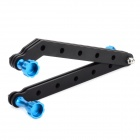 HR45-BL 6061 T6 Aluminum Extension Arms + Screws Set for Gopro Hero 4/ 2 / 3 / SJ4000 - Black + Blue