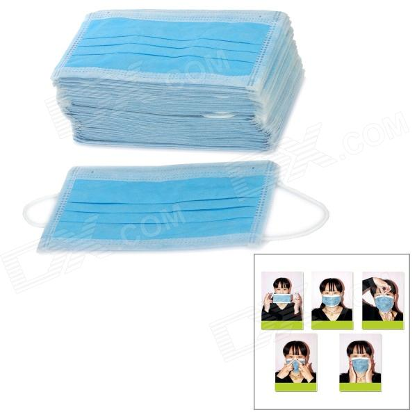 Disposable Fungi-Proofing Anti-Virus Ear Hook 3-Layer Face Masks - Blue (50 PCS) 3m 9502 dust masks n95 anti particulate matter anti pm2 5 smog protective industrial dust influenza virus mask h012912