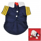 Navy Style Cotton Clothes for Dog Apparel Pet Clothes - Deep Blue + Yellow + White + Red (Size L)