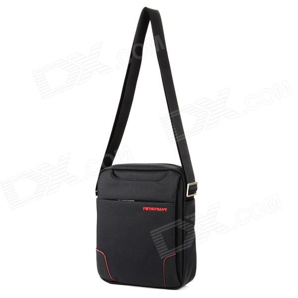 Water Resistant Oxford Fabric Shoulder Bag - Black