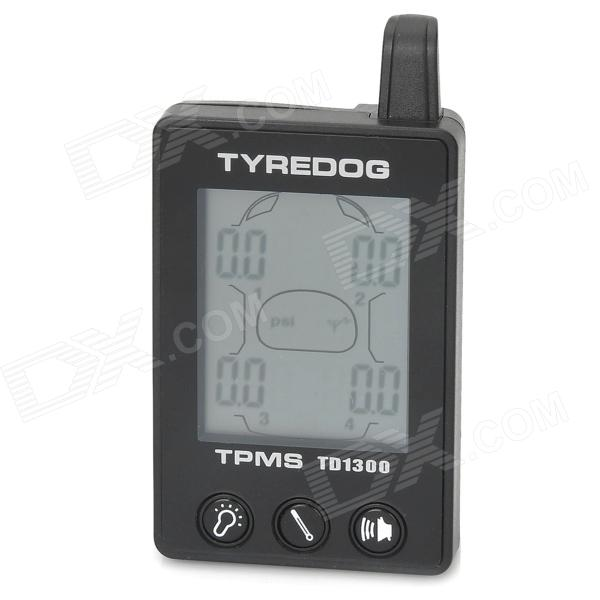 TYREDOG TD1300A-X 1.7 LCD Wireless External 4-Sensor TPMS Tire Pressure Monitoring System - Black tire anti theft screws dedicated to the v80 2 4 1 h3 h5 h6 h1 c30c50c20 nut
