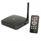 AT-01 TV-BOX Android 4.0 HD Media Player w/ Remote Controller - Black (4GB Memory + 2.0MP Camera)
