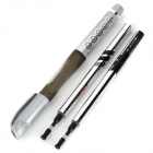 M&G GP-1530 0.5mm Black Gel Ink Pen + 2 Refills Set - Silvery Grey + Brown