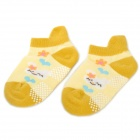 Cute Rabbit Pattern Cotton Socks for Toddler - Deep Yellow + Yellow + White (Pair)