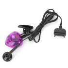 BS-006 Heart Style Hands Free Voice Changer for Cell Phone - Black + Translucent Purple