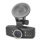 "LSON GS500 1.5"" LCD 3.0MP Wide Angle Car DVR Camcorder w/ TF / 4-IR LED / 4X Optical Zoom - Black"