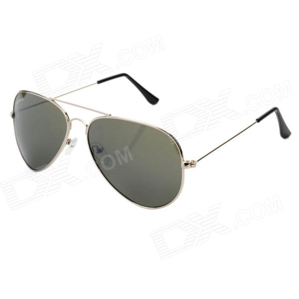 CASHIRO 3025 Outdoor Flying Resin Lens Zinc Alloy Frame UV Protection Sunglasses - Silver