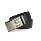 Genuine KESACZAR Stylish Men's Cowhide Belt w/ Zinc Alloy Automatic Buckle - Black