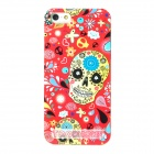Protective Skeleton Pattern Plastic Back Case for iPhone 5 - Red