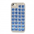 Fashionable Rhinestone Electroplating Plastic Back Case for Iphone 5 - Blue