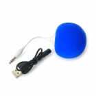 Mini Balloon Style 3.5mm Plug Speaker for Iphone 4S / 5 / Ipad - Blue + White