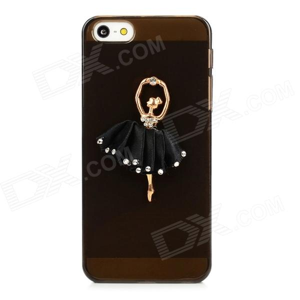 Ballet Girl Style Protective Plastic Back Case for Iphone 5 - Translucent Black