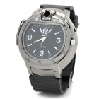 SM5221 Stylish Watch Style Butane Blue Flame Lighter - Silver + Black