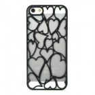 Stylish Love Pattern Skeleton Plastic Back Case for Iphone 5 - Black
