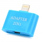 2-in-1 8pin Lightning Male to 30pin + Micro USB Adapter for iPad 4 / iPad Mini / iPhone 5 - Blue