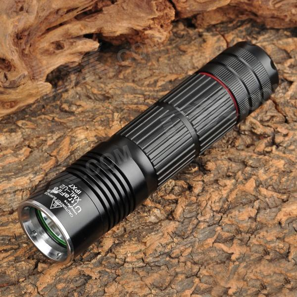 UltraFire LZZ-F15 400lm 5-Mode White Flashlight w/ Cree XM-L U2 - Black (1 x 18650/26650 or 3 x AAA) ultrafire lzz 1 600lm 4 mode white bicycle headlamp w cree xm l u2 black golden 4 x 18650