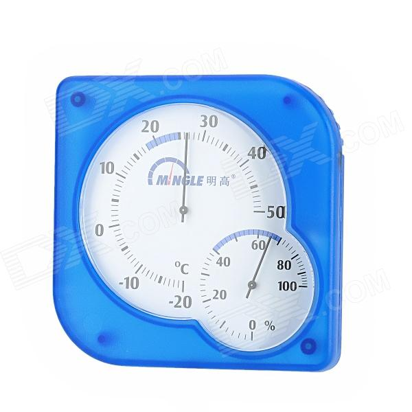 MINGLE TH873 Desk-Top Household Thermometer Hygrometer - Blue + White