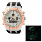 Water Resistant Fashion Sports Analog + Digital Quartz Wrist Watch (1 x CR2016 / SR626SW)