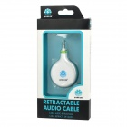 STAR GO Retractable 3.5mm Male to Male Audio Cable - White (80cm)