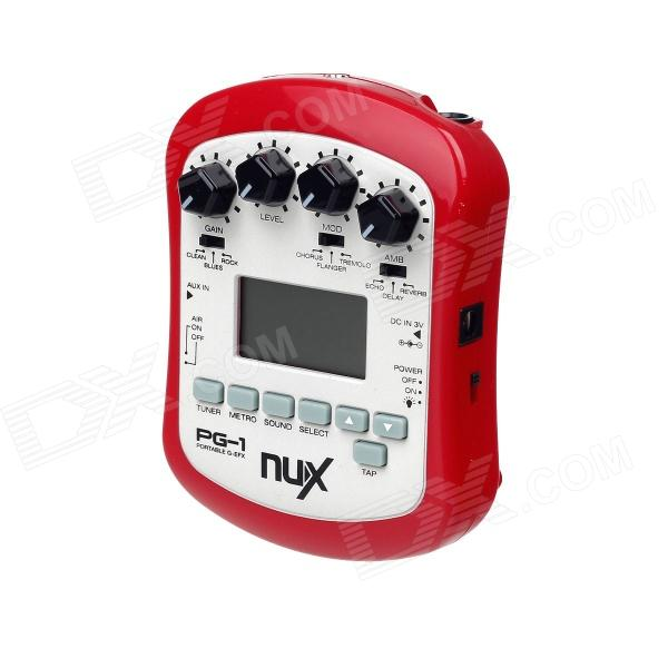 Portable Cherub PG-1 NUX Guitar Effect Pedal Effector - Red + Grey + Black (2 x AA) cherub 1 recruit